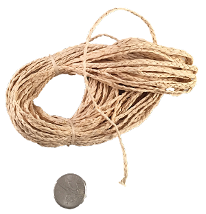 "Braided Raffia String - 1/16"" - by the foot"