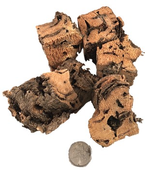 Natural Cork Bark Hunkies - 1pc