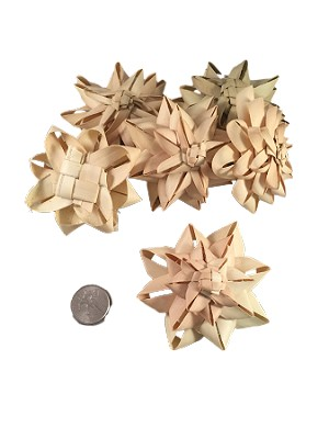 Fancy Palm Flowers - Natural - 6pc