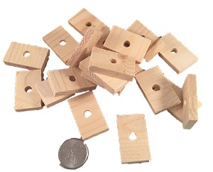 "Softwood Slices - 5/16"" x 7/8"" x 1-1/4"" - Natural - 24pc"