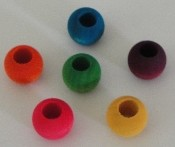 Wooden Beads - Coloured - 16mm - 24pc