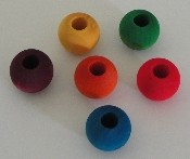 "Wooden Beads - Coloured - 28mm (1-1/8"") - 12pc"