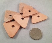 "Leather Triangles - 1.5"" - 6pc"