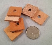 "Leather Squares - 1"" - 10pc"