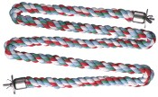 "Zig Zag Cotton Rope Perch - Extra Large 1.25""d x 64"""