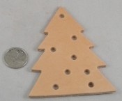 "Leather Holiday Tree Toy Base - 4""- 1pc"