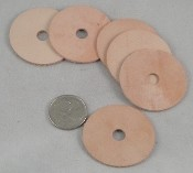 "Leather Thiny Washers - 1-5/8"" x 1/16"" thick - 10pc"