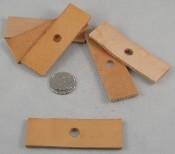 "Leather Rectangles - 3"" x 1""- 6pc"