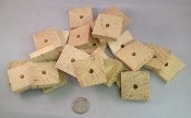 "1.5"" x 3/8"" Pine Thinners - Natural - 24pc"
