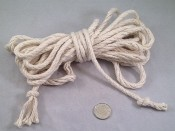 "Superior Cotton Rope - 1/4""d - by the foot"