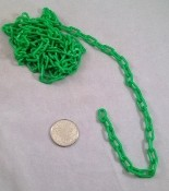 "Mini Plastic Chain - Green - 1/2"" x 2mm - Per Foot"
