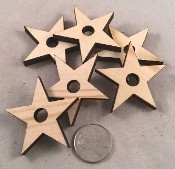 "Canadian Pine Stars - 2"" x 2"" - Natural - Small - 12pc"