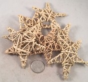 "Woven Vine Stars - Natural - 3"" - 24pc - BULK"