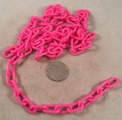 "Plastic Chain - Pink - 3/4"" x 3mm - Per Foot"