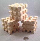 "Waffle Block - MT - BIG ONE! - 2-3/4"" - Natural - 1pc"