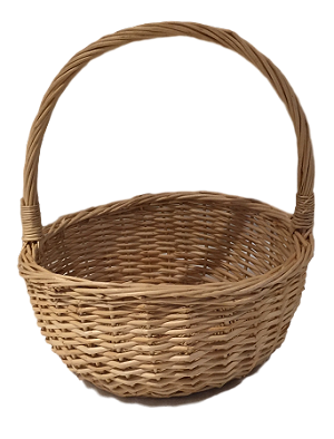 "Willow Handle Basket - Natural - Biggest - 8""d x 10""h"
