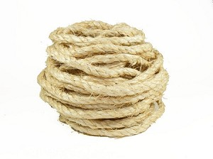 "Natural Sisal Rope - 1/4"" - By the Foot"
