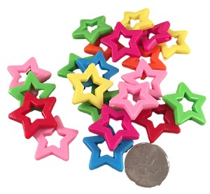 "Star Rings - Brights - 3/4"" - 24pc"