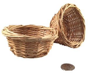 Tootie Wicker Mini Basket - Natural - 4in