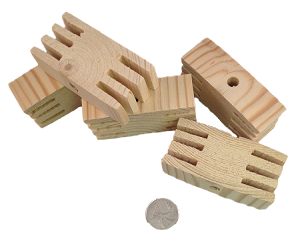 "3"" x 1.5"" Pine Wacky Blocks - Natural - 6pc"
